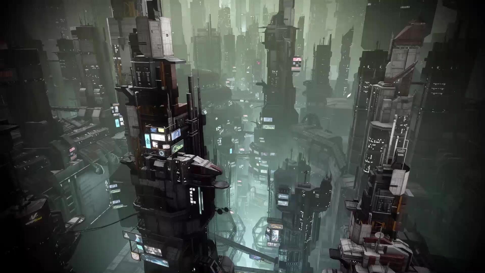 Cyber City Live Wallpaper Wallpaperwaifu