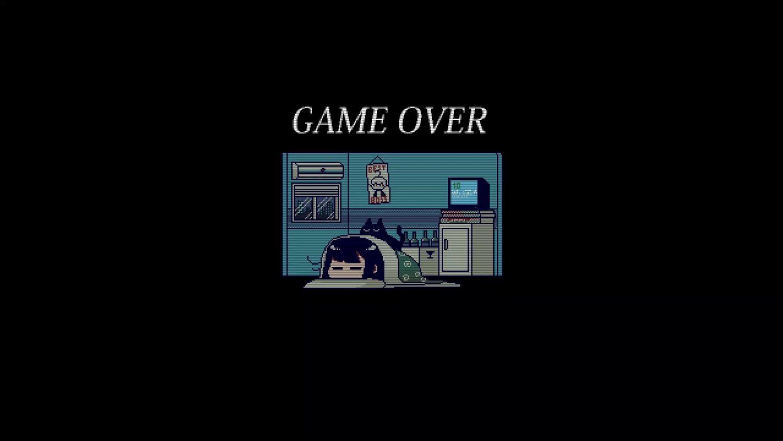Va-11 Hall-A Game Over Screen Live Wallpaper - WallpaperWaifu