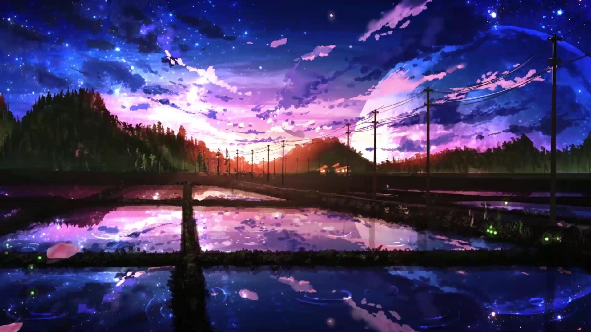 Cherry Blossom Sunset Live Wallpaper - WallpaperWaifu