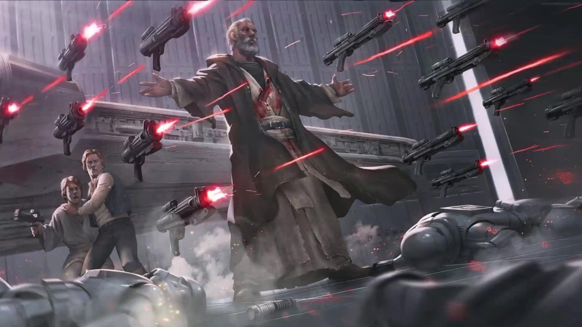 Obi Wan Kenobi The Force Star Wars Live Wallpaper Wallpaperwaifu