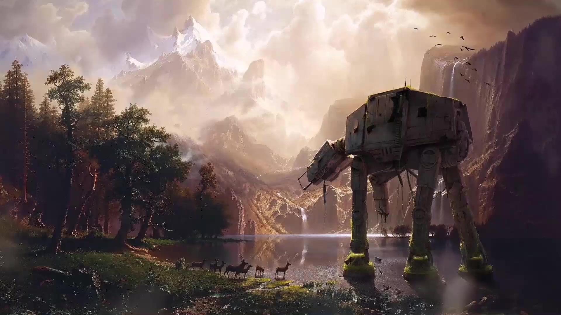 Star Wars At At Live Wallpaper Wallpaperwaifu